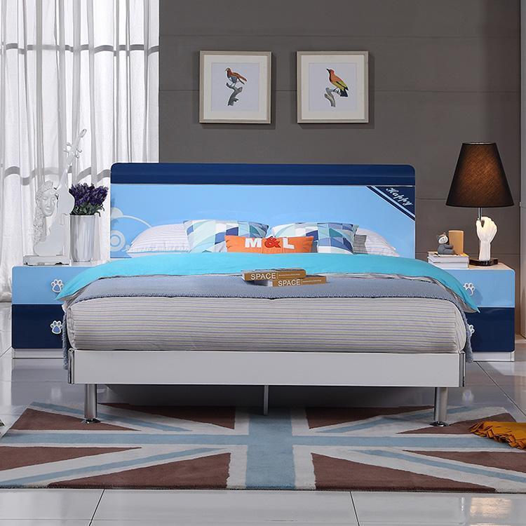 全友家居青少年兒童床臥室套房板式床床頭柜男孩家具809b